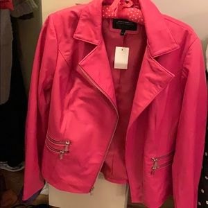 Neumann Marcus Hot Pink Leather Jacket